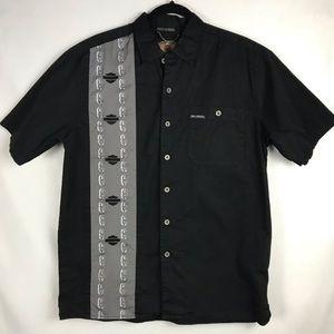 Harley-Davidson Men's Shirt Black & Grey Medium